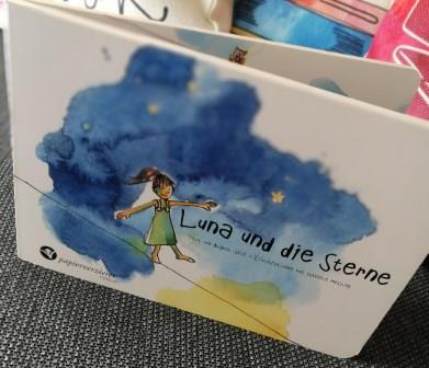 """Kinderbuch """"Luna und die Sterne"""" für 2 - 5 Jahre aus dem Papierverzierer Verlag"""