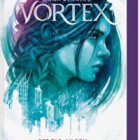 Buchcover mit Mädchenopf titel: Vortex autor: anna Benning